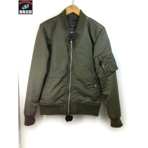 2016AW attack the mind 7 (2) MA-1 (NO PRINT) KHAKI【中古】