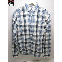 TODD SNYDER XS LS BD CHECK SHIRTS BLUE【中古】