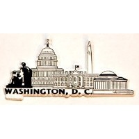 Washington D.C. 2D PVC Fridge Collector's Souvenir Magnet FMC by Souvenir Destiny