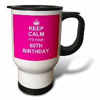 InspirationzStoreタイポグラフィ–Keep Calm Its Your 60th BirthdayホットピンクガーリーガールズStay Calm and Carry...