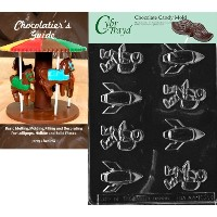 Cybrtrayd Spaceman and Rockets Kidsチョコレート型Chocolatier 's Guide指示Book手動