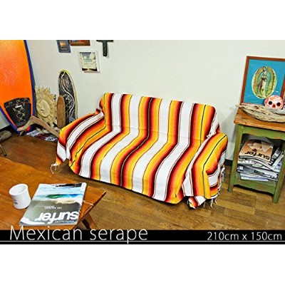 RUG&PIECE Mexican Serape made in mexcico ネイティブ メキシカン サラペ メキシコ製 210cm×150cm (rug-6030)