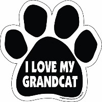 High quality Paw Car Magnet, I Love My Grandcat, 5-1/2-Inch by 5-1/2-Inch