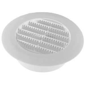 Speedi-Products 4-Inch Diameter Plastic White Round Soffit Vent(SM-RSV 4) by Speedi-Products