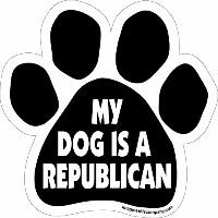 High quality Paw Car Magnet, My Dog is a Republican, 5-1/2-Inch by 5-1/2-Inch