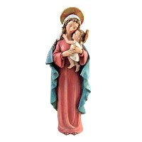 Stoneresin The Blessed Virgin Mary Madonna Figurine Inspired By Sister m.i. Hummel レッド PN#B1200Serie...