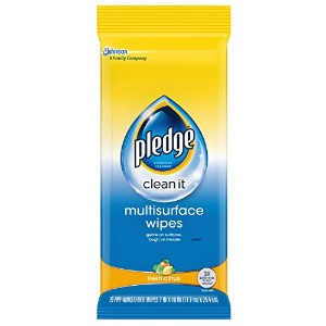 Pledge Multi Surface Everyday Wipes Fresh Citrus, 25-Count by Pledge