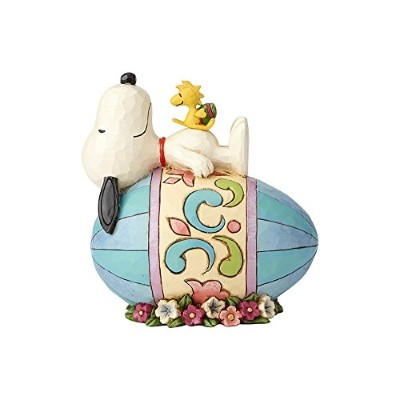 enesco PEANUTS DESIGNS BY JIM SHORE フィギュア スヌーピー&ウッドストック on Easter Eggs #4059432 4059432