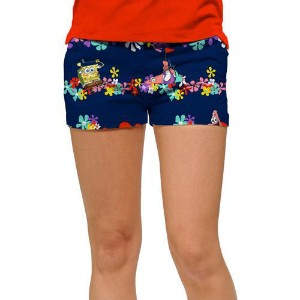 LoudMouth Ladies SpongeBob SquarePants Mini Shorts (#SS)【ゴルフ レディース>パンツ】