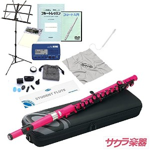 Nuvo ヌーボ Student Flute/ピンク サクラ楽器オリジナル フルート入門セット スチューデントフルート