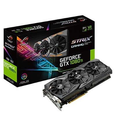 ASUS ROG-STRIX-GTX1080TI-11G-GAMING GeForce11GB VR Ready 5K HD Gaming HDMI DisplayPort DVI PC...