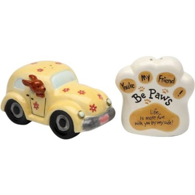 Appletree Design Be Paws You're My Friend Salt and Pepper Set, 6.4cm, Life Is More Fun with You by...