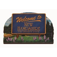 New Hampshire State Welcome Sign Wood Fridge Magnet 2 by Souvenir Destiny