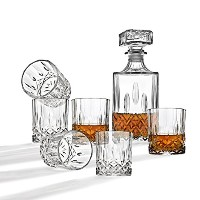 Whiskey Decanter and Glassesバーセット、Includesウイスキーデカンタand 6カクテルGlasses – 7 Piece Set