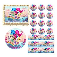 SHIMMER&SHINE Party Edible Cake Topper Image Frosting Sheet Cake Decoration (half sheet (10x16)) by...