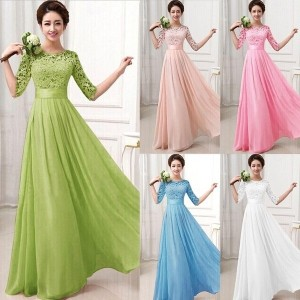 2017 Womens Long Prom Dresses Gown Party Evening Party Bridesmaid Cocktail Maxi Dress S-XXL
