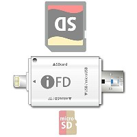 iFD iOS・Android・Windows 対応 microSD ・SDカードリーダー USBメモリー iPhone7 iPhone6s iPhone6 iPhone5s Sony...