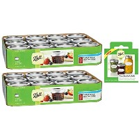 Canning Jarバンドル3Items = 2パックボール4オンスQuilted Crystal Jelly Jars with Lids and Bands、12セット(合計24Jars ...