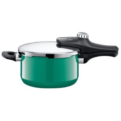 Silit Sicomatic econtrol pressure cooker, without insert, 4.5l, Silargan, Ocean Green, also...