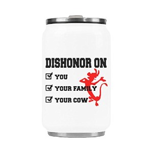 Dishonor On You Your Family Your Cowステンレススチール真空カップ旅行コーヒーマグ10.3オンス