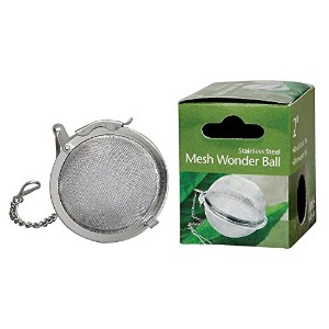 HIC Loose Leaf Tea Infuser Strainer and Herbal Infuser, 18/8 Stainless Steel, Mesh Tea Ball, 2-Inch...