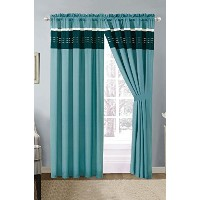 Luxury 7ピース布団セット Curtain ブルー p-21201-teal-curtain