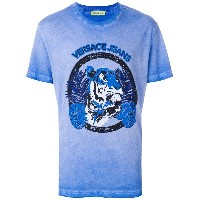 Versace Jeans プリント Tシャツ - ブルー