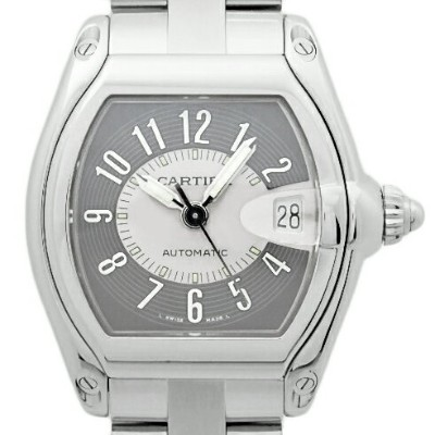 【DS KATOU】 Cartier カルティエ ロードスター LM W62001V3 メンズ オートマ グレー文字盤 【質屋出店】【中古】