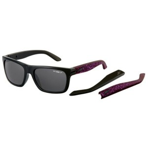 アーネット メンズ メガネ・サングラス【Dropout Sunglasses】Gloss Black/ Fuzzy Inked Purple/ Polarized Grey Lens