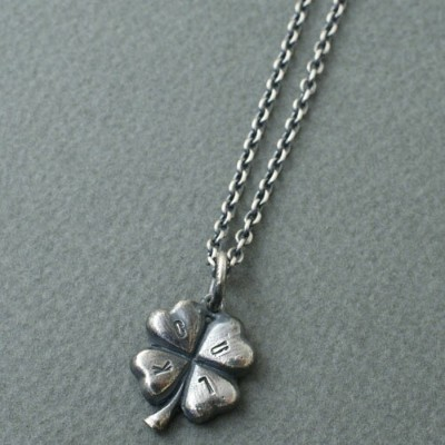 CMW-UNKNOWN 4HEART CLOVER LUCK Necklace SV(チェーンサービス)