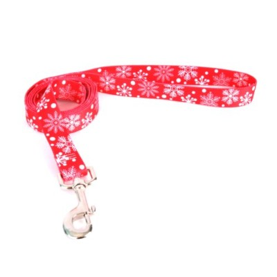 Yellow Dog Design RSF104LD Red Snowflakes Lead - 3/8 in. x 60 in.