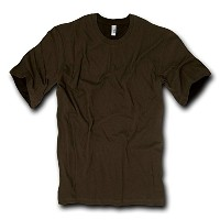 Decky 716-PL-BRN-03 Combed Cotton Fashion Tee, Brown, Large