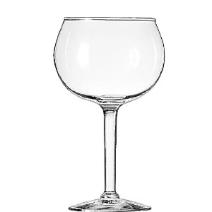 Libbey 13.7-ounce Prestonレッドワイングラス、クリア、4ピースby Libbey