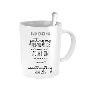 Mother of the Groom Gifts–Thank You For Not Putting My Husband Up For Adoption–Cute Funnyからプレゼント...