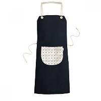 Dog Claw Simple Line-drawing Protect Animal Pet Lover Cooking Kitchen Black Bib Aprons With Pocket...