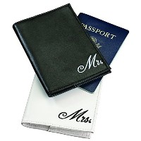 (カップル パスポートカバー) Lillian Rose Mr. and Mrs. Passport Covers, 4-Inch by 5.5-Inch