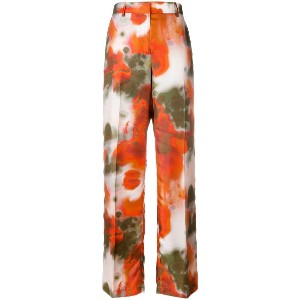MSGM printed wide-leg trousers - イエロー&オレンジ