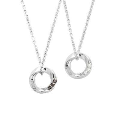 DUB Collection Eternal Circle Necklace エターナルサークルネックレス ペア SV925 シルバー DUBj-367-Pair
