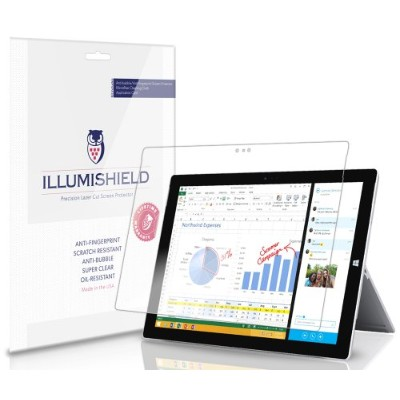 iLLumiShield Ultra HD Clear Screen Protector for Microsoft Surface Pro 3 (2 Pack)