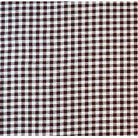 SheetWorld Fitted Pack N Play (Graco Square Playard) Sheet - Brown Gingham Check - Made In USA by...