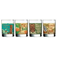 Luminarc Tikis Decorated Double Old Fashioned (Set of 4), 13.25 oz by Luminarc