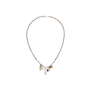 Chan Luu Womens Beaded Necklace with Charms One Size
