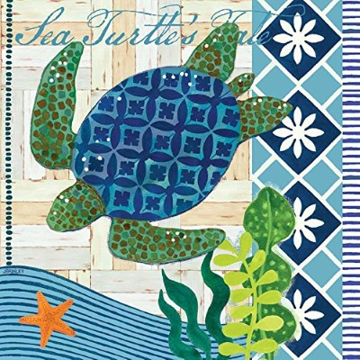 PPD Paperproducts Design Nautical Sea Turtle Party/Cocktail / Beverage Napkins 1251255