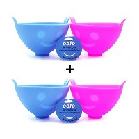 eele Smiley Egg Poacher, Poaching Device, Silicone, Blue/pink by eele