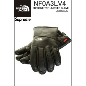 SUPREME THE NORTH FACE LEATHER GLOVE NF0A3LV4 JK3 BLACK ザ ノースフェイス シュプリーム レザーグローブ 手袋 ニューヨーク限定モデル 革...