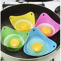 シリコンEgg Poacher Cups – Set of 6 Cooking Perfect Poached Eggs – 電子レンジやStovetop Egg Cooker (ランダムカラー)