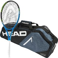 Head Ti。Instinct Comp pre-strungテニスラケットバンドルwith a coreテニスバッグまたはバックパック