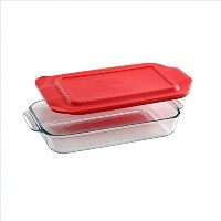 Pyrex Basics QuartガラスOblong Baking Dish 1PK-2QT レッド COMINHKG112693