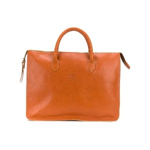 Il Bisonte large top handle tote bag - イエロー