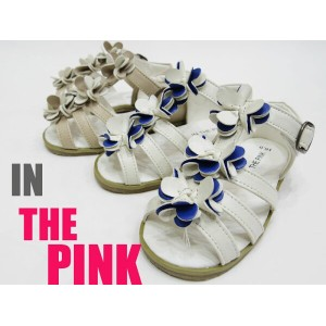 【SALE】IN THE PINK★フラワーサンダル★ 【子供靴のVOYAGE通販店キッズ・ジュニアシューズ】